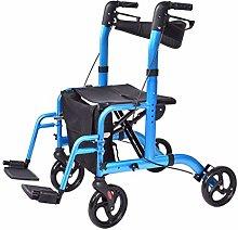 LYRWISHPB Rollator Walker,Elderly scooter,Shopping