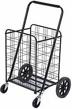 LYWDJ Folding Shopping Cart Utility Rolling Cart