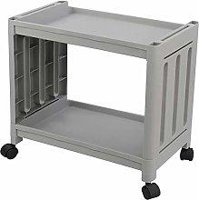 LYWDJ Utility Rolling Cart 2-Tier Storage Cart