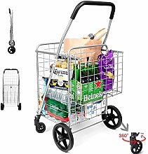 LYWWH Grocery Utility Shopping Cart, Easily