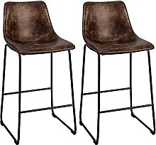LYXCM Bar Stools Set of 2, 30 Inches Vintage