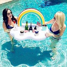 LYYAN Pool Toys Rainbow Infltable Buffet Serving