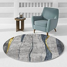 LYYYT-DT Geometry Round Area Rugs Home Non Slip