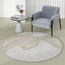 LYYYT-DT Round Modern Chic Rug for Living Room