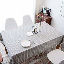 LZCM Wipe Clean Tablecloth Grey With Table Cover -