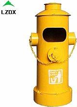 LZDX Retro Iron Pedal Trash Can, Fire Hydrant
