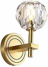 LZLYER Lights Wall Lamp Brass Crystal Wall Light