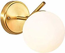 LZLYER Lights Wall Lamp Nordic Brass Led Bedroom