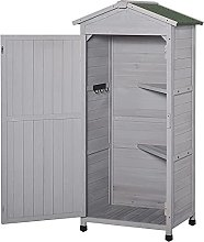 LZQBD 55x74cm Garden Shed Fir Wood Garden Storage