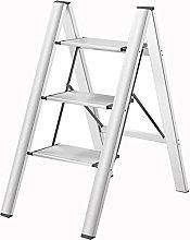 LZQBD Ladder,Portable Step Stool, 3-Step Ladder