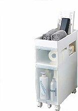 LZQBD Narrow Slim Storage Cart Floor-Standing