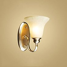 LZQBD Wall Lamps,Copper Bedroom Wall Light Study