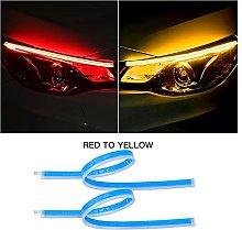 LZQIANG Car LED DRL Strip 30CM 45CM 60CM Turn