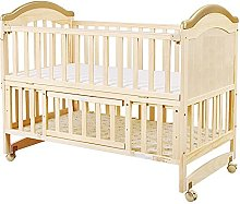 LZTET Nursery Cot Bed,Portable Crib,Wooden Cot Bed