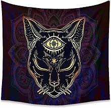 LZYMLG Black Cat Animal Black Moon Tapestry