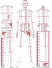 LZYqwq 3Pcs Sewing Ruler, Acrylic Curve Template