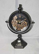 M S L Black Mantel Gear Clock