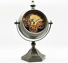 M S L Green Mantel Gear Clock