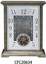 M S L Mantel Gear Clock
