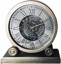 M S L Round Mantel Gear Clock