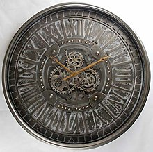 M S L Rustic Gear Wall Clock