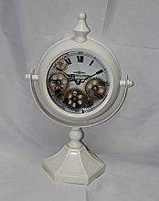 M S L White Mantel Gear Clock