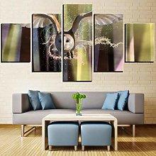 m u 5 owl canvas paintings flying birds wallpaper