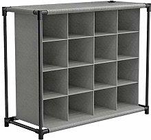 M-Y-S 16-cube Shoe Rack Storage Unit, 16 Section