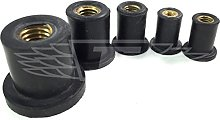 M10, Pack of 5 Rubber RUB NUT Well NUT - Threaded