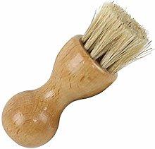 MA87 Wooden Handle Shoes Clean Brush Polish Hair