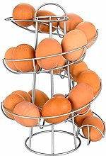 Macabolo spiraling egg skelter dispenser rack wire