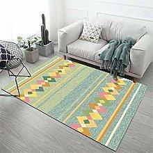 Machine wash carpet Green bedroom rug girl room