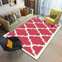 Machine wash carpet Red Rectangular Rug Bedroom