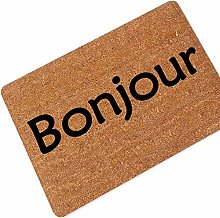Machine Washable Printed Floor Mat French Bonjour