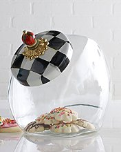 MacKenzie-Childs Cookie Jar With Courtly Check