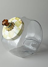 MacKenzie-Childs Cookie Jar With Parchment Check