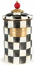 MacKenzie-Childs Courtly Check Enamel Canister -