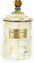 MacKenzie-Childs Parchment Check Enamel Canister -