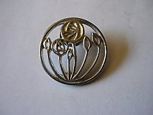 Mackintosh Circular Rose codew20 made from Solid