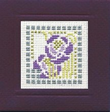 Mackintosh Rose Miniature Card Cross Stitch Kit by