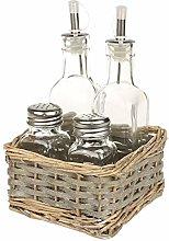 Macosa NO79181 Vinegar and Oil Cruet with Spice