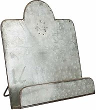 Macosa SA81874 Cookbook Holder Zinc Silver Vintage