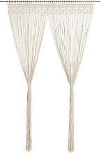 Macrame Curtain 140x240 cm Cotton