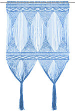 Macrame Curtain Blue 140x240 cm Cotton