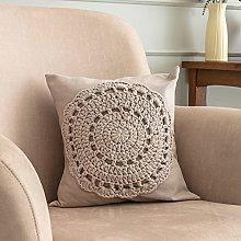 Macrame Cushion Covers 2-Pack Boho Square