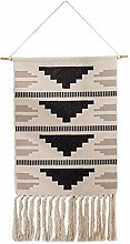 Macrame Woven Wall Hanging Tapestry with Tassel