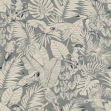 Madagascar Tropical Parrot Bird Palm Leaf Texture