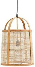 Madam Stoltz - Bamboo and Linen Lamp