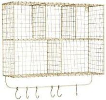 Madam Stoltz - Danish Wire Storage Unit - Gold/Grey