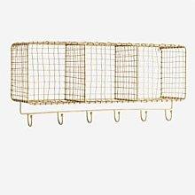 Madam Stoltz - Hanging Shelf W Hooks - OS